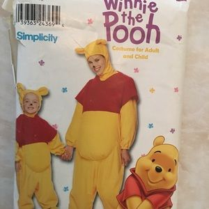 Winnie the Pooh child/adult costume pattern.